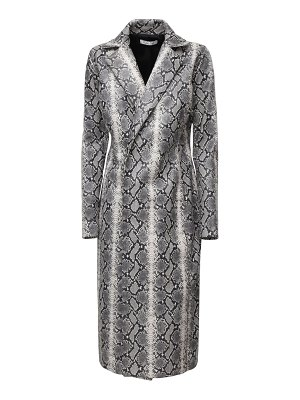 LAQUAN SMITH Snake print leather long coat