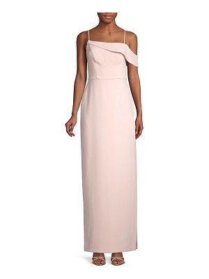 Laundry by Shelli Segal Asymmetrical Cold-Shoulder Gown