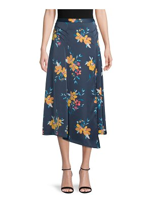 Laundry by Shelli Segal Asymmetrical Floral Skirt