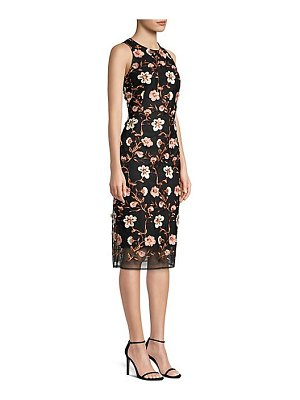Laundry by Shelli Segal floral mesh cocktail sheath dress