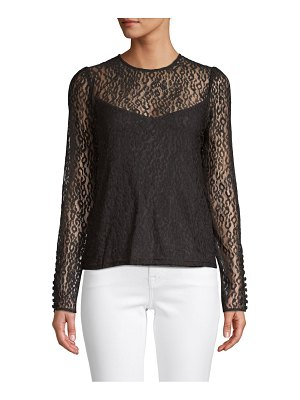 Laundry by Shelli Segal Leopard-Print Lace Top