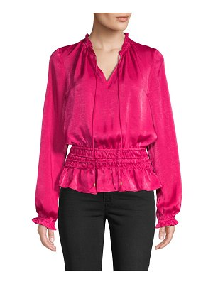 Laundry by Shelli Segal Ruffled Balloon-Sleeve Blouse