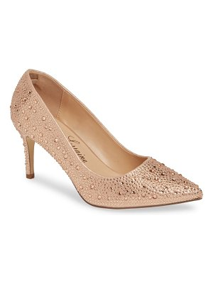 Lauren Lorraine jewel pointy toe pump