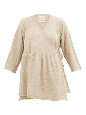 Lauren Manoogian alpaca and linen-blend wrap cardigan