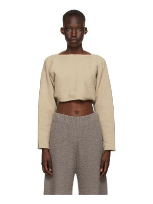 Lauren Manoogian taupe sleeves pullover sweater