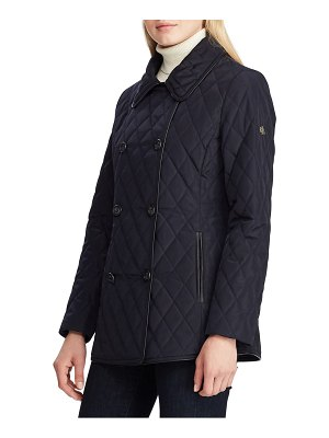 Lauren Ralph Lauren double breasted quilted peacoat