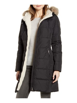 Lauren Ralph Lauren quilted faux shearling lined down & feather parka
