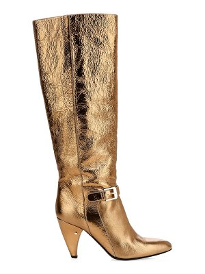 Laurence Dacade vlad laminated leather tall boots