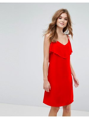 Lavand cami dress with frill overlay-red