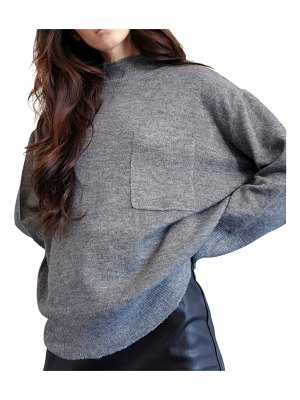 LBLC The Label Chelsea Sweater with Chest Pocket