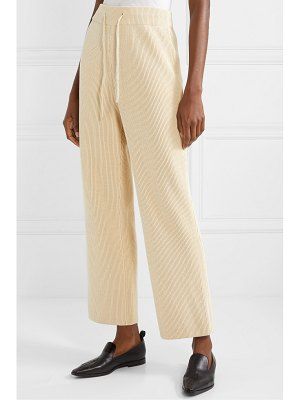 LE 17 SEPTEMBRE ribbed cotton wide-leg pants