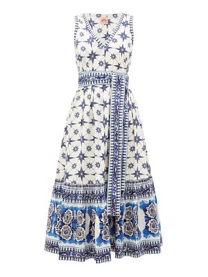LE SIRENUSE, POSITANO evelin star-print cotton midi dress