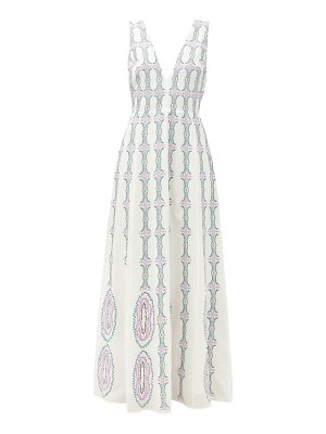 LE SIRENUSE, POSITANO nellie bubble gum v-neck cotton maxi dress