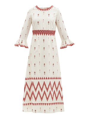 LE SIRENUSE, POSITANO tracey floral-embroidered cotton dress