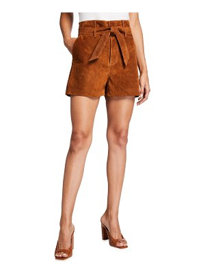 Le Superbe Almost Famous Suede Belted Shorts