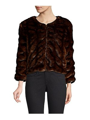 Le Superbe faux fur cropped jacket