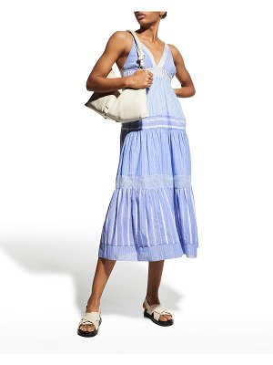 Le Superbe Getting Vertical Striped Beach Gown