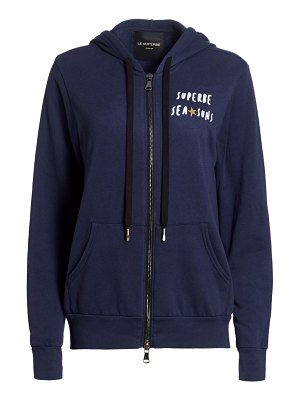 Le Superbe happy everything zip-up hoodie