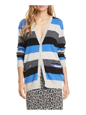 Le Superbe midnight rainbow metallic wool & cashmere boyfriend cardigan