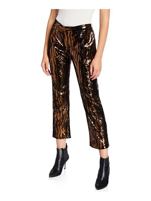 Le Superbe Sequined Animal-Print Chino Pants