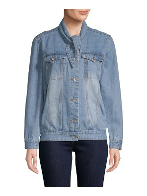 Lea & Viola Classic Button-Front Denim Jacket