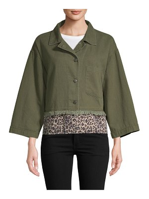 Lea & Viola Cropped Notch Jacket