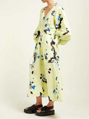 LEE MATHEWS dolores floral print midi dress
