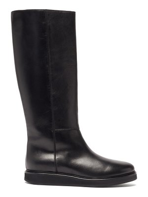 Legres knee-high leather boots