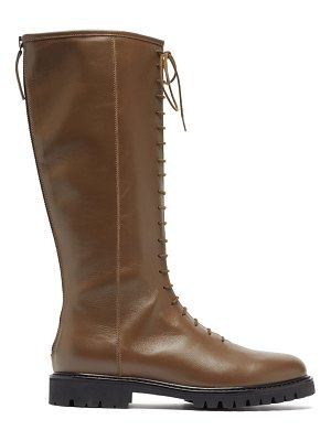 Legres lace-up knee-high leather combat boots