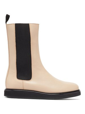 Legres mid-calf leather chelsea boots