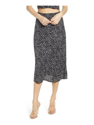 Leith button side midi skirt