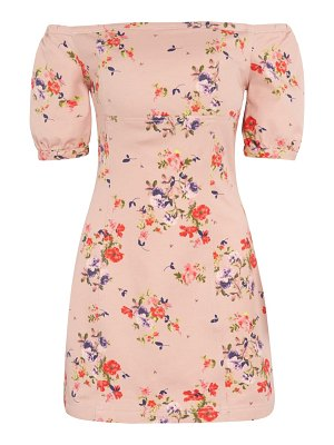 Leith floral off the shoulder minidress