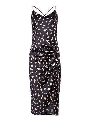 Leith floral strappy midi dress