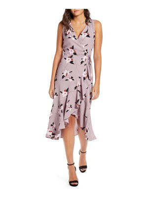 Leith flounce wrap midi dress
