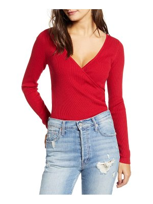 Leith rib wrap sweater