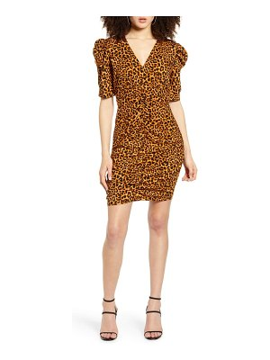 Leith ruched puff sleeve minidress