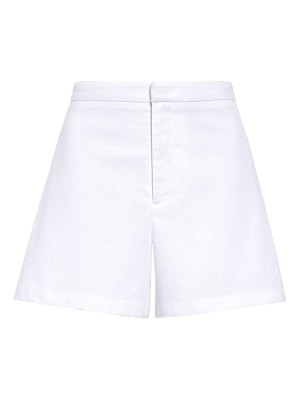 Leith side pleat tailored linen blend shorts