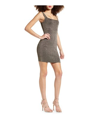 Leith sleeveless metallic sweater dress