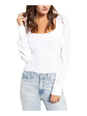 Leith square neck puff sleeve top