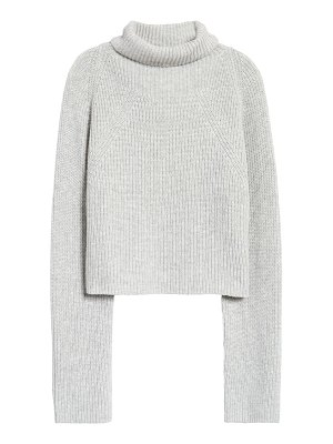 Leith transfer stitch turtleneck sweater