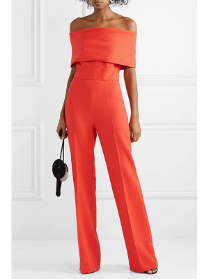Lela Rose off-the-shoulder wool-blend cady jumpsuit