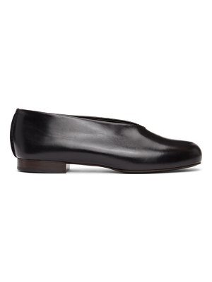 LEMAIRE black stitch slippers