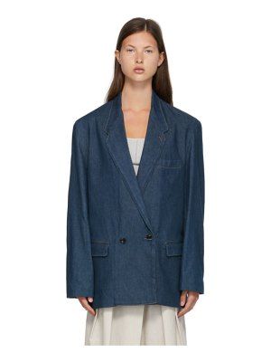 LEMAIRE blue denim double-breasted jacket