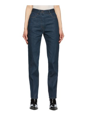 LEMAIRE blue fitted jeans