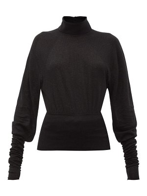 LEMAIRE button-collared stretch-jersey roll neck sweater