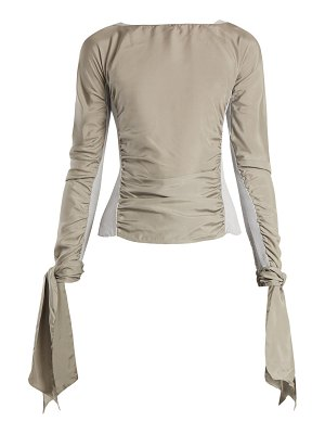 LEMAIRE Contrast Panel Ruched Crepe De Chine Top