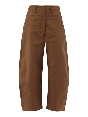 LEMAIRE cropped cotton chino trousers