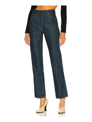LEMAIRE denim fitted pant