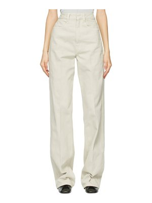 LEMAIRE grey garment-dyed jeans