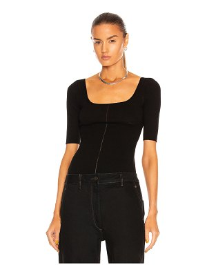 LEMAIRE knitted second skin 3/4 sleeve top